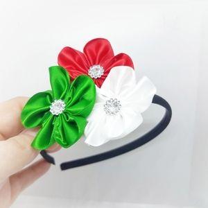 Other - New Handmade Christmas Flower Satin Headband